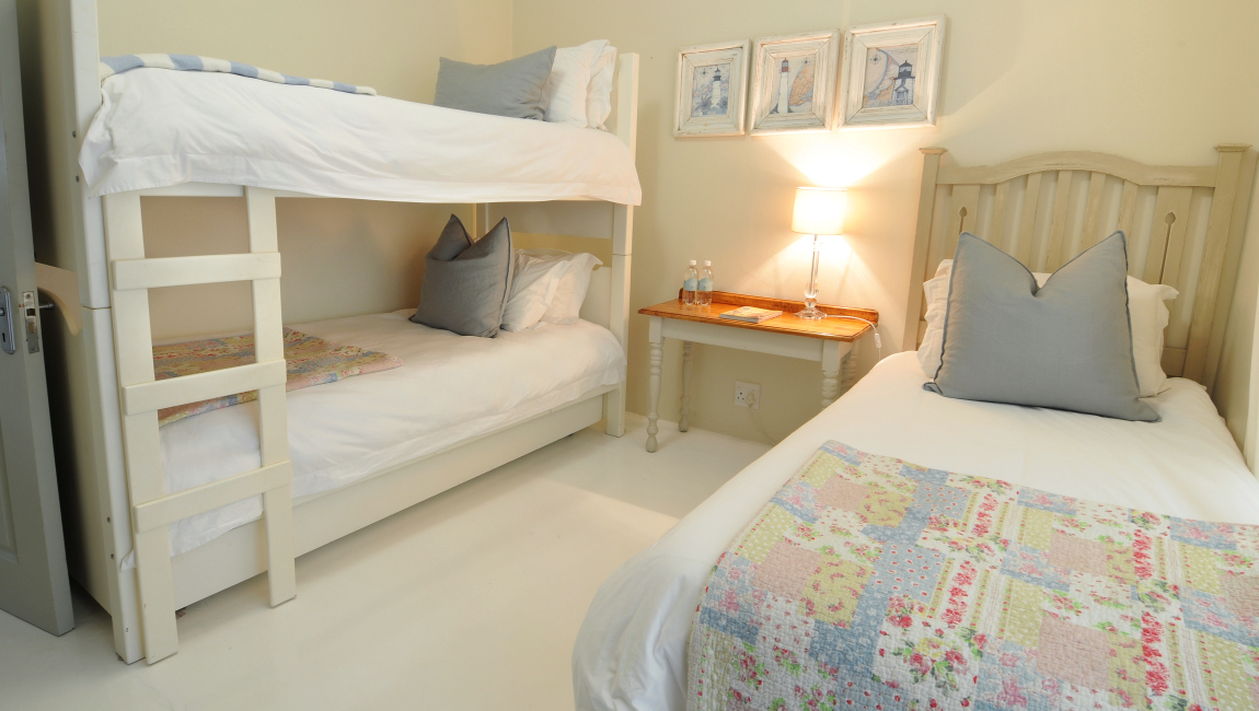 Fourth bedroom, two spacious bunks and a single
